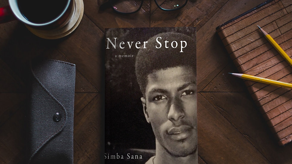 Never Stop book