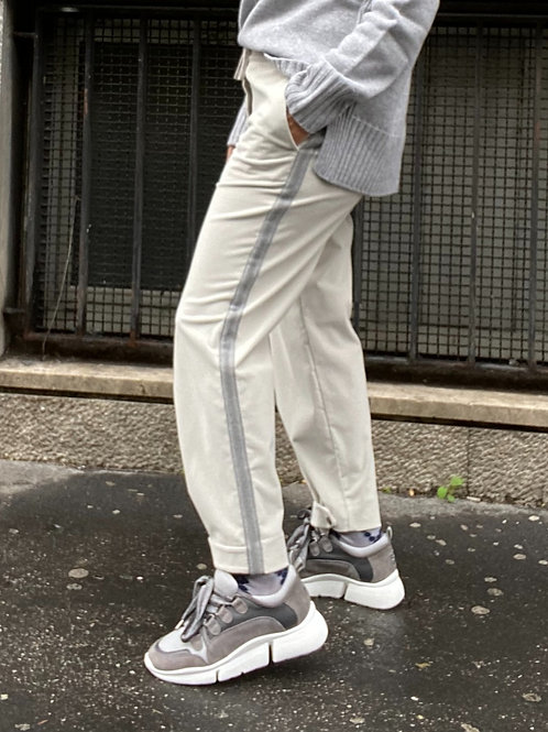 Pantalone jogging in velluto