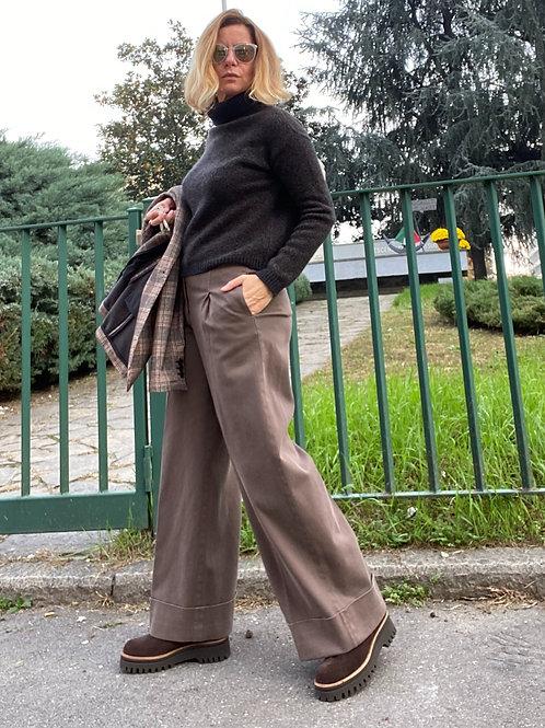 Pantalone con pinces in cotone PESERICO