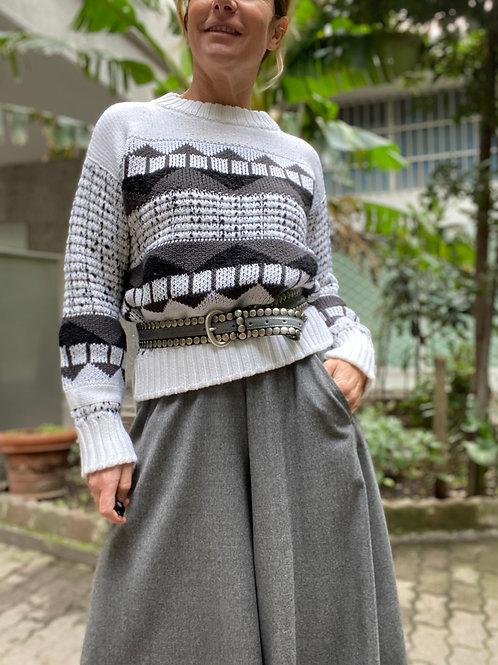 Maglia in lana con micro pailettes LORENA ANTONIAZZI