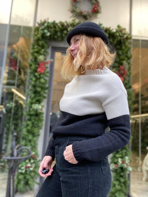 maglia cashmere bi color