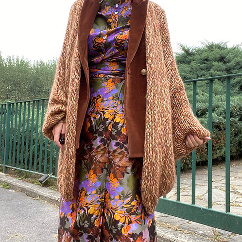 Maxi cardigan in lana mohair mouline  ANNECLAIRE