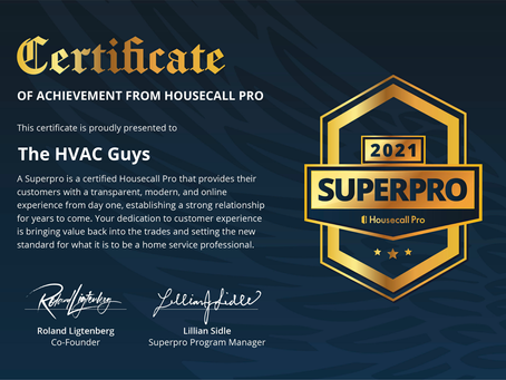 The HVAC Guys Recognized as SuperPro for 2021!