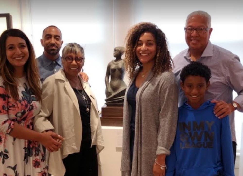 Zara Jones with Khalil, Shirley & Bernard Kinsey During the 2018 Harlem Renaissance