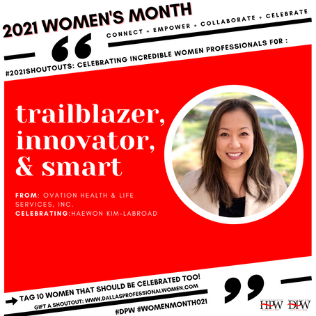 DPW's 2021 Women's Month Celebration Spotlights Haewon Kim-LaBroad
