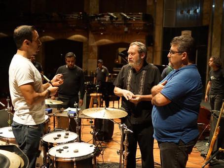"""Sala de Audio presente en el soundcheck y grabación del gran baterista """"Antonio Sánchez"""" e"""
