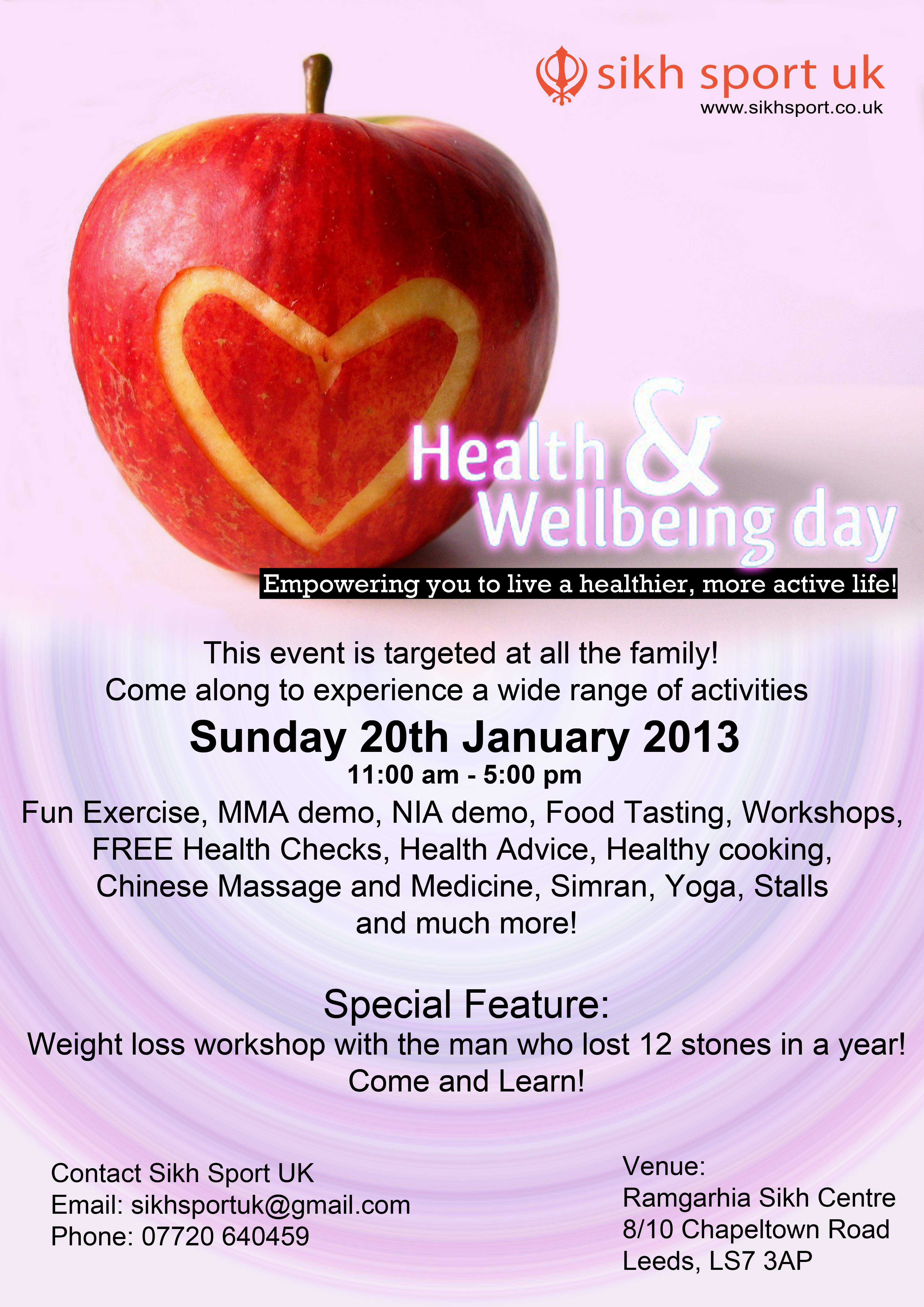 Wellbeing Event 2013