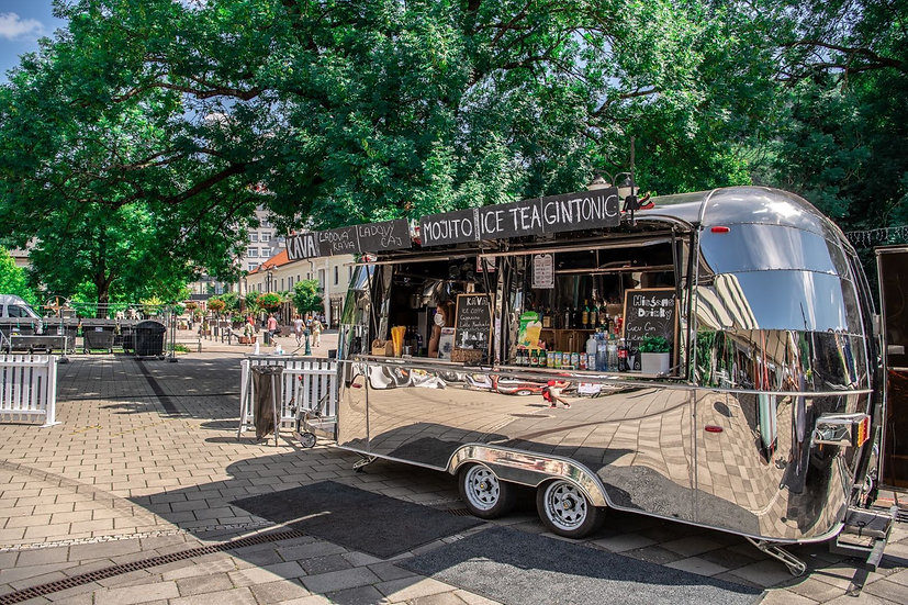 Stainless steel food trailer