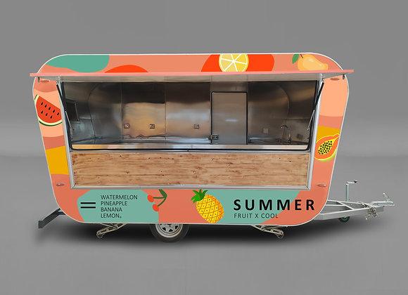 Trapezoid food trailer