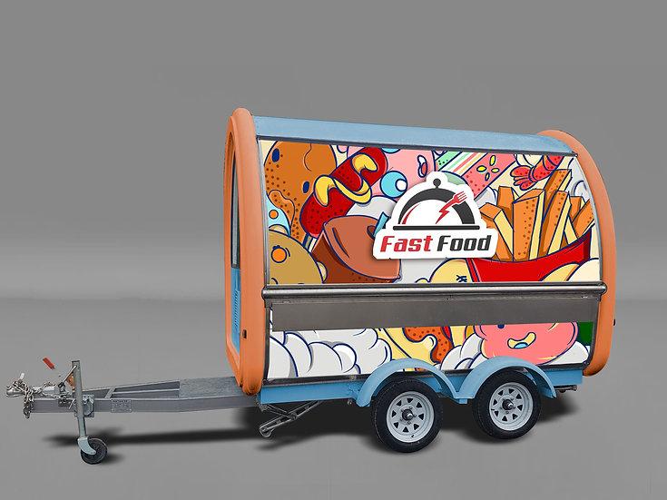 Food cart trailer BCF-8