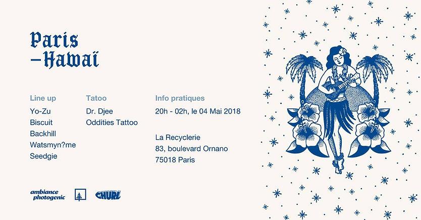 event paris hawai churl la recyclerie