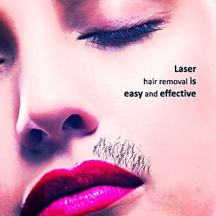 laser hair removal medical salon spa Manhattan midtown New York NYC poster funny easy and effective