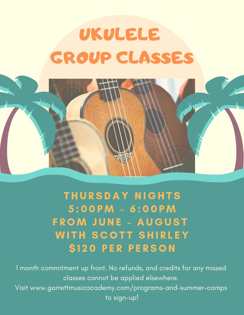 Ukulele Group Classes