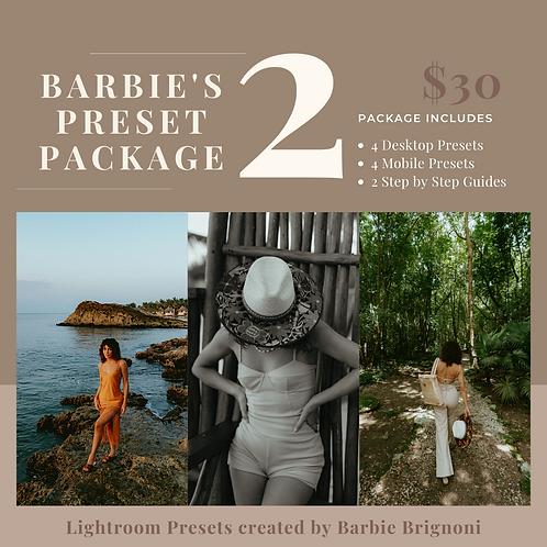 Barbie Preset Package 2