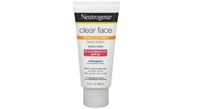 Neutrogena Clear Face Sunscreen SPF 30