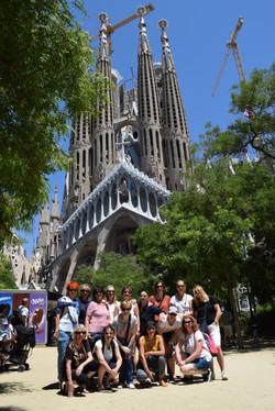 Team Visit to La Sagrada Familia
