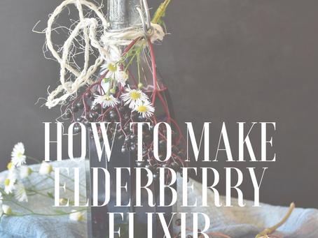 How to Make Elderberry Elixir