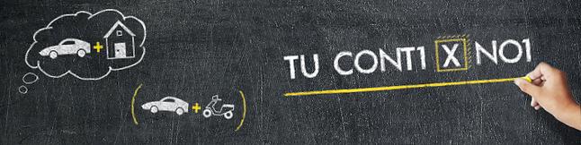 Assicurazione online preventivo lavagna auto e casa e motociclo gessetto bianco e giallo