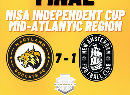 Maryland Bobcats FC Wrap Up 2020 NISA Independent Cup