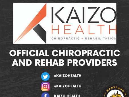 Kaizo Health Announced as Official Chiropractic and Rehab Providers and Jersey Sponsor!