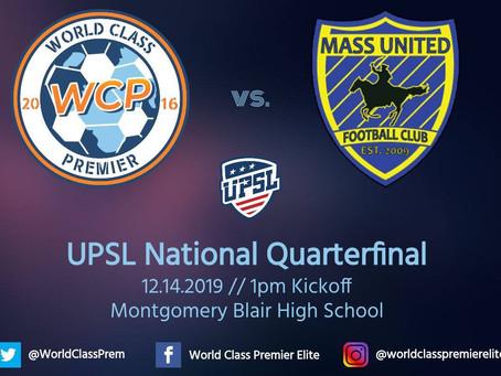 World Class Premier Elite to Host UPSL National Quarterfinal