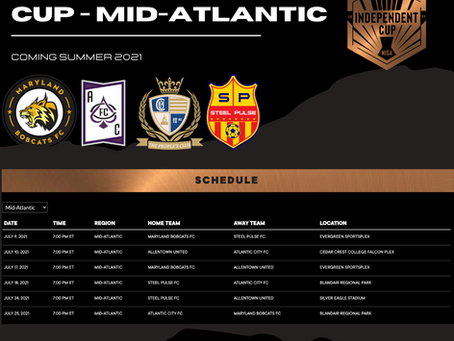 2021 NISA Independent Cup Schedule Announced
