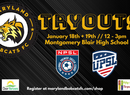 Maryland Bobcats FC Announce Dates for 2020 Tryouts