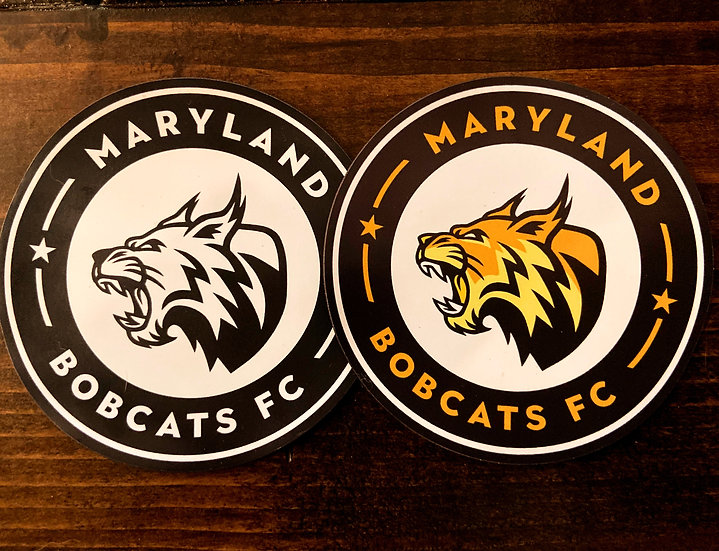 Maryland Bobcats FC Black and White Logo Magnet