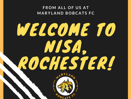 Maryland Bobcats FC Welcomes Rochester NISA Club!