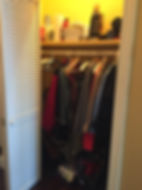 Organizing Edmonton | front closet - before