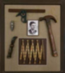 Organizing Edmonton | carpenter memorabilia frame