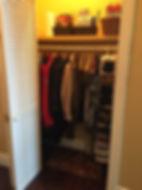 Organizing Edmonton | front closet - after