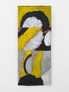 Untitled, 2020. Oil paint and wax on cardboard, 23.5 x 9.75 in (59.69 x 24.7 cm)