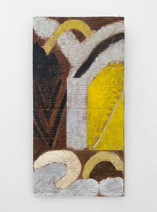 Untitled, 2020. Oil paint and wax on cardboard, 24 x 12 in (60.96 x 30.48 cm)