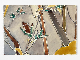Lunch Drawing, 2020. Watercolor and ink on paper, 7.5 x 10.5 in (19.05 x 26.67 cm)