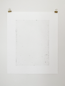Between Flavin and the Horn, 2018. Soft ground etching, 22.8 x 18.2 in (57.9 x 46.2 cm). Ed. 7/10