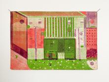 The Perdido, 2020. Oil on found paper, 10.5 x 7 in (26.67 x 17.78 cm)