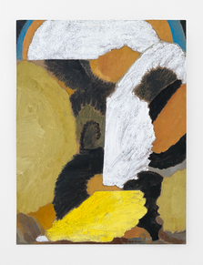 Untitled, 2020. Oil paint and wax on cardboard, 24 x 18 in (70 x 45.72 cm)