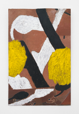 Untitled, 2020. Oil paint and wax on cardboard, 26 x 16.75 (66.04 x 42.54 cm)