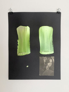 Untitled, 2020. Acrylic on aluminum, 30.8 x 25.5 in (78.23 x 64.8 cm)