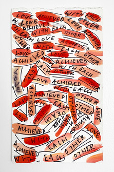 Love Achieved, 2015. Watercolor and ink on paper, 12 x 7 in (30.48 x 17.78 cm)