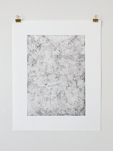 I'm glad we've done it just to see, 2018. Soft ground etching, 22.8 x 18.2 in (57.9 x 46.2 cm). Ed. 7/10