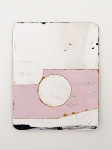 Unititled, 2014. Enamel paint and ink on paper, 9.7 x 7.6 in