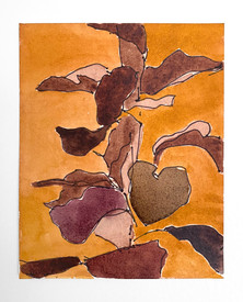 House Plant, 2020. Watercolor and ink on paper, 6 x 5 in (15.24 x 12.7 cm)