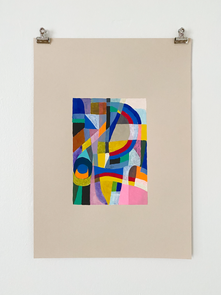Untitled, 2020. Watercolor and gouache on paper, 16 ½ x 11 ⅝ in.