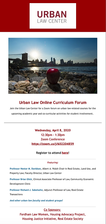 ULC Website Urban Law Curriculum Forum.p
