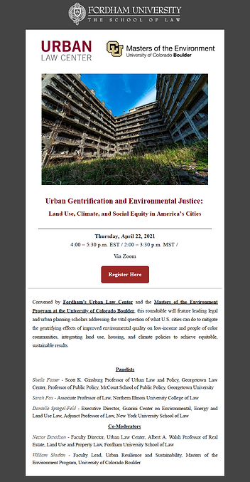 Urban Gent and Environmental Justice Scr