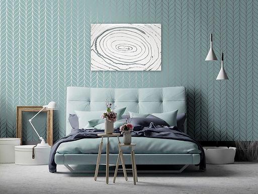 "Pousch Interio - The Swirl - Mini Modern Resin Wall Art Painting 36""x24"""