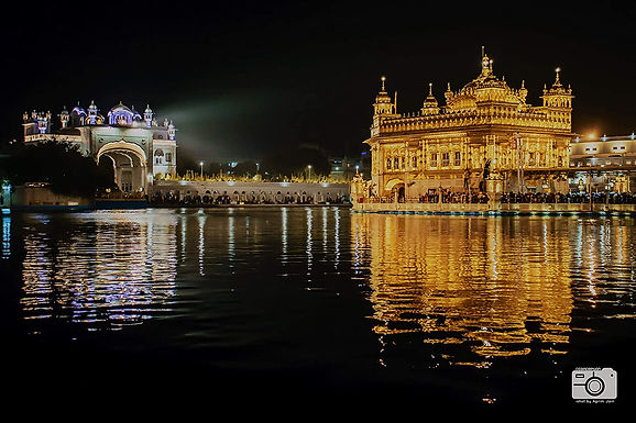 Conception Shot by Agrim Jain Golden Temple Amritsar Framed Scenery Shri Harmand