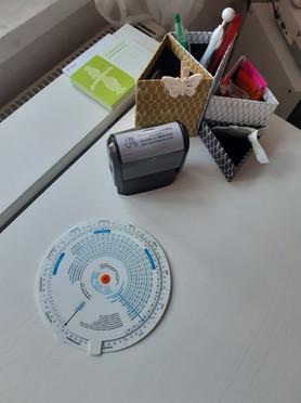 Detail Schreibtisch